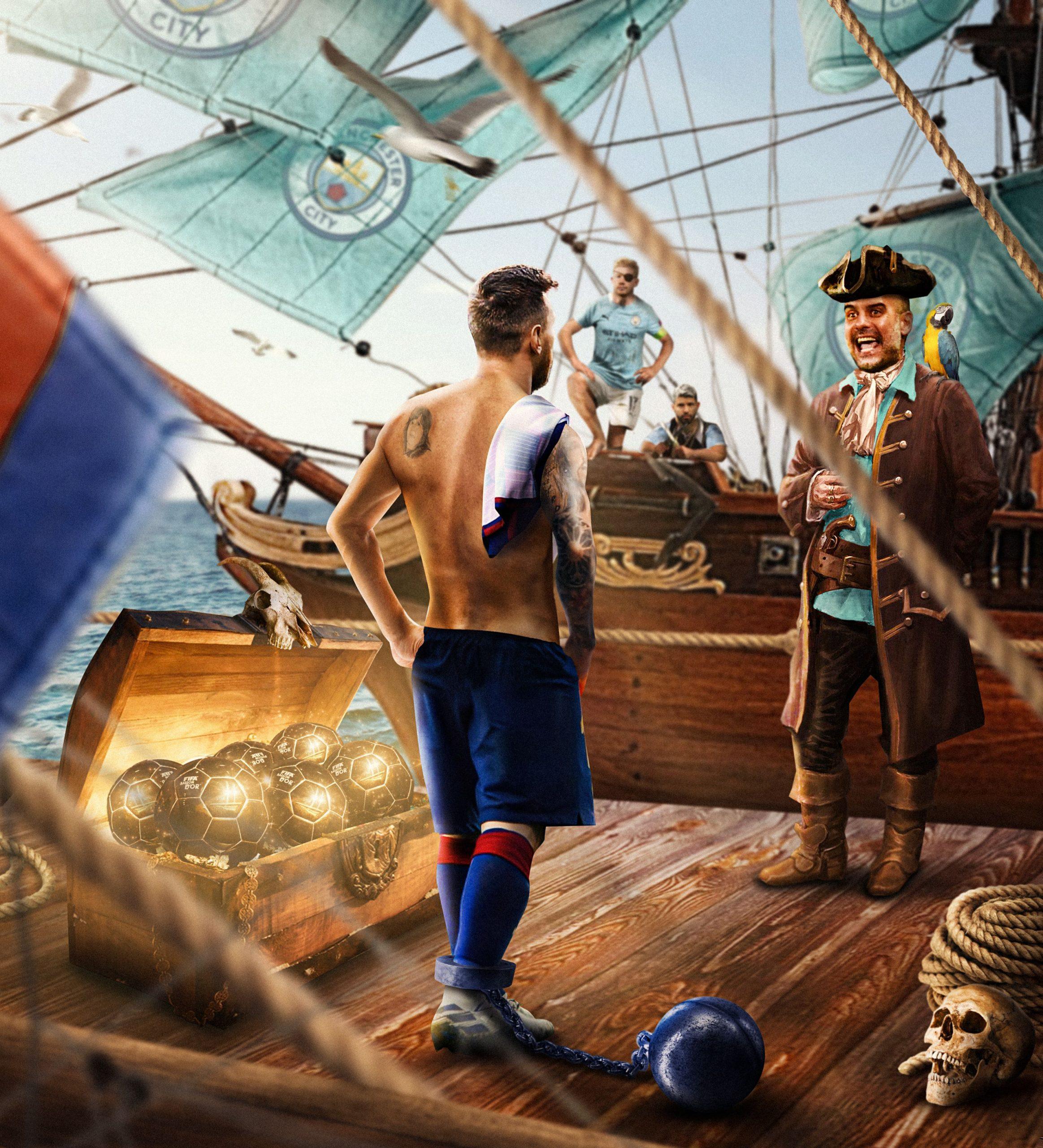 Messi-Guardiola-Ship